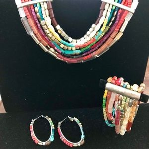 Jewelry - Statement Necklace, Bracelet and Earring set